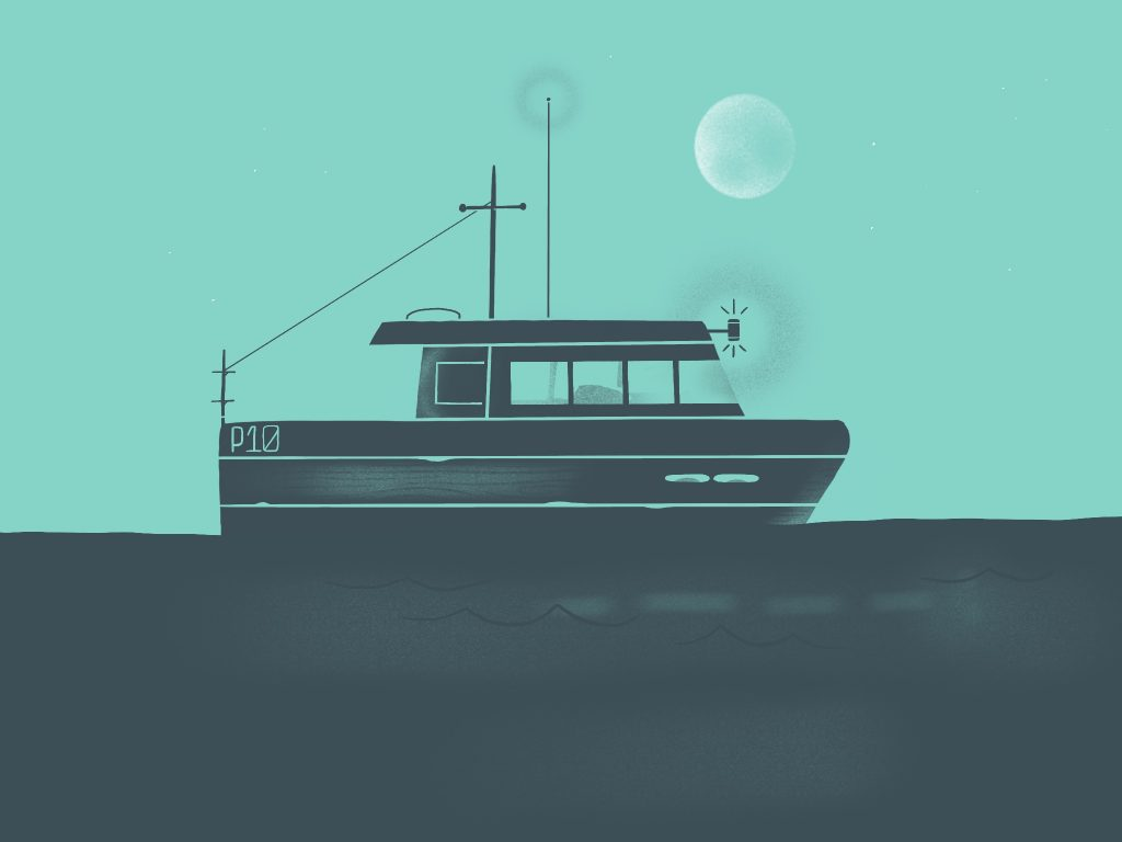 Night Boat Illustration