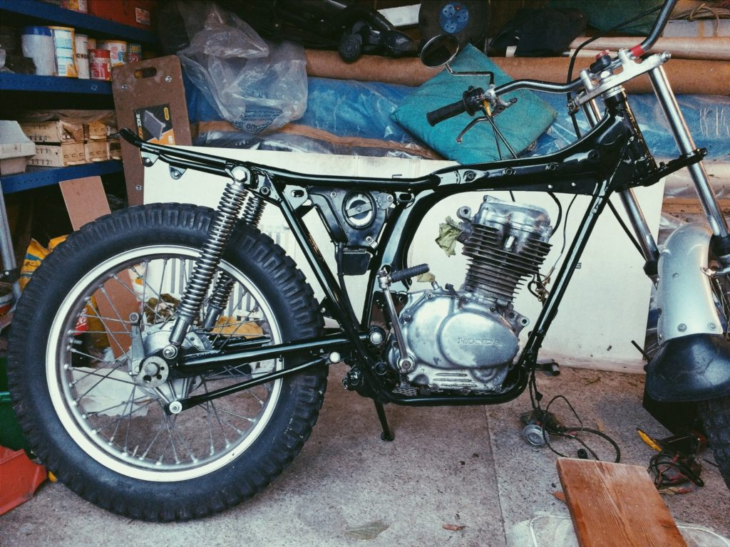 Another photo I took on my phone in 2016 using the image editing app VSCO. A proper blast from the past which I'd forgotten all about. This time it was my old Honda TL125s motorcycle which we rebuilt.